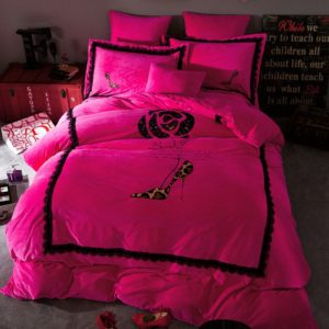 Victoria's Secret Velvet Warm Lace Embroidery Bedding Set XLQY