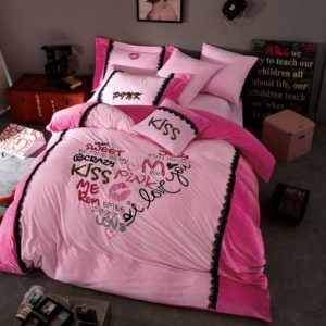 Victoria's Secret Velvet Warm Lace Embroidery Bedding Set XYCX