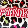 Victoria's Secret Velvet Warm Pink Printing Bedding Set CQ