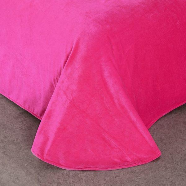 Victorias Secret Velvet Warm Pink Printing Bedding Set FMH 6