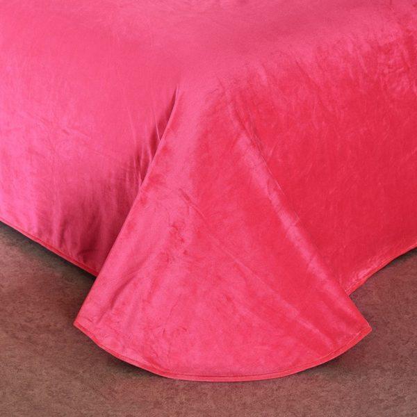 Victorias Secret Velvet Warm Pink Printing Bedding Set JC 3 600x600 - Victoria's Secret Velvet Warm Pink Printing Bedding Set JC