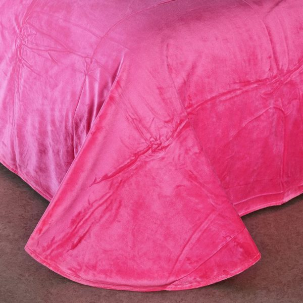 Victorias Secret Velvet Warm Pink Printing Bedding Set MH 4 600x600 - Victoria's Secret Velvet Warm Pink Printing Bedding Set MH