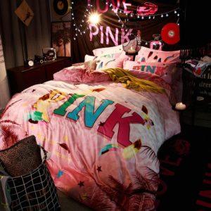 Victorias Secret Velvet Warm Pink Printing Bedding Set PY 1 300x300 - Victoria's Secret Velvet Warm Pink Printing Bedding Set PY