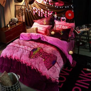 Victorias Secret Velvet Warm Pink Printing Bedding Set TY 1 300x300 - Victoria's Secret Velvet Warm Pink Printing Bedding Set TY