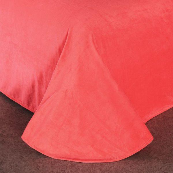 Victoria's Secret Velvet Warm Pink Printing Bedding Set YR