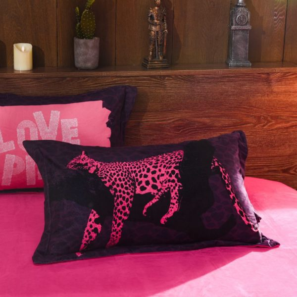 Victorias Secret Velvet Warm Pink Printing Bedding Set ZM 4