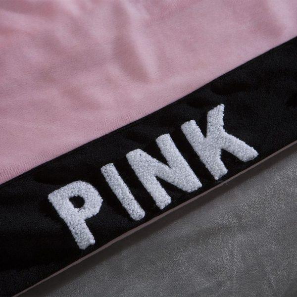 Victorias Secret Velvet Warm Tower Style Embroidery Bedding Set ASSH QF 13