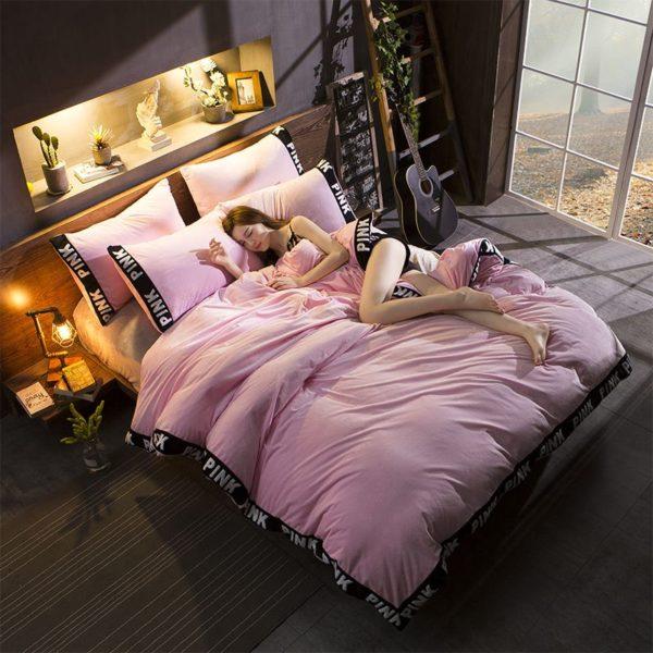 Victorias Secret Velvet Warm Tower Style Embroidery Bedding Set ASSH QF 9