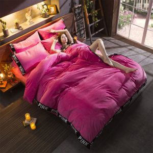 Victoria's Secret Velvet Warm Tower Style Embroidery Bedding Set ASSH-QMH