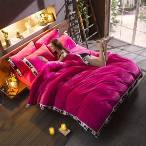 Victoria's Secret Velvet Warm Tower Style Embroidery Bedding Set ASSH-SMH