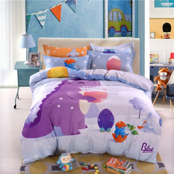 3D Dinosaur Print Bedding Set Twin Queen Size BWL 2 600x600 - 3D Dinosaur Print Bedding Set Twin Queen Size BWL