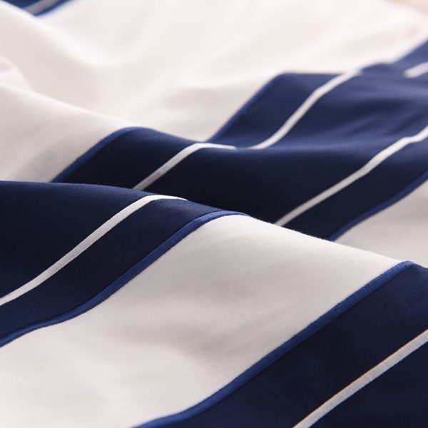 Attractive Royal Blue White Stripe Embroidery Bedding Set 9 600x600 - Attractive Royal Blue & White Stripe Embroidery Bedding Set
