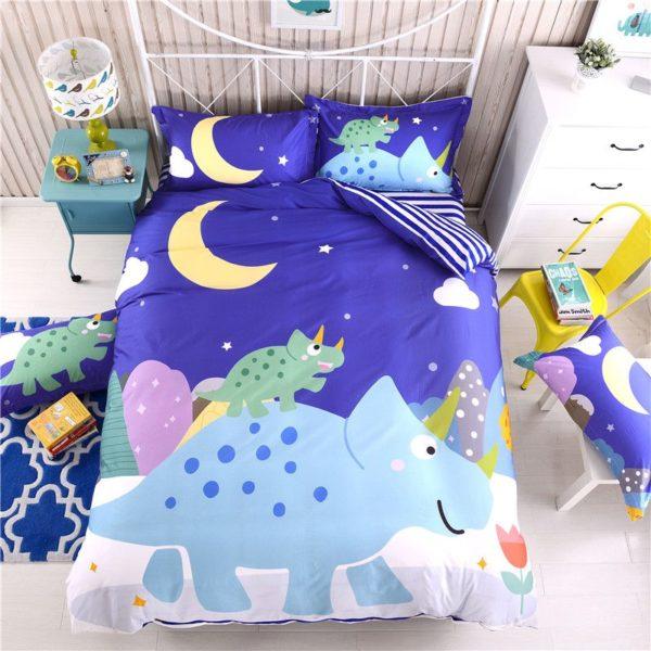 Blue Dinosaur Comforter Set Twin Queen Size SJL 1 600x600 - Blue Dinosaur Comforter Set Twin Queen Size SJL