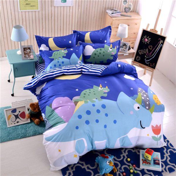 Blue Dinosaur Comforter Set Twin Queen Size SJL 2 600x600 - Blue Dinosaur Comforter Set Twin Queen Size SJL