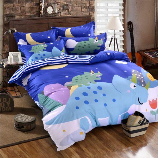 Blue Dinosaur Comforter Set Twin Queen Size SJL 3 600x600 - Blue Dinosaur Comforter Set Twin Queen Size SJL