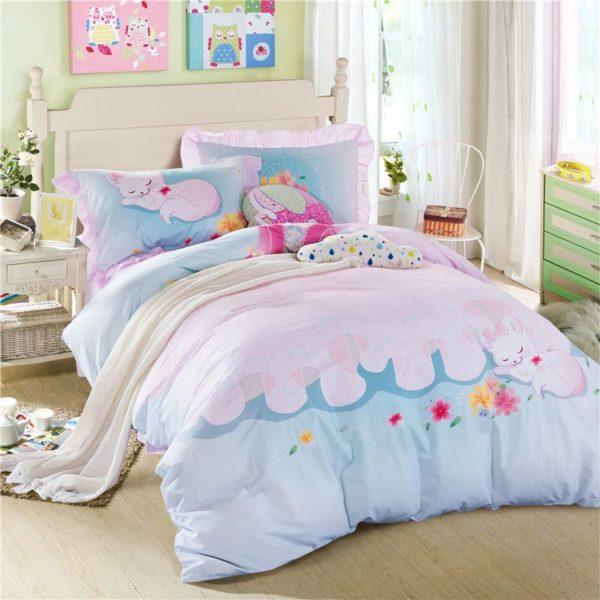 Cute Sleeping Cat Bedding Set GTZ 1