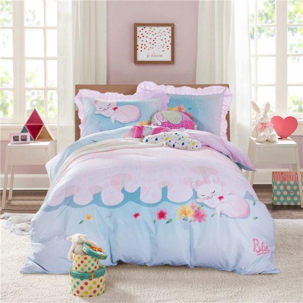 Cute Sleeping Cat Bedding Set GTZ 3