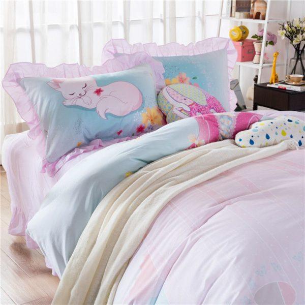 Cute Sleeping Cat Bedding Set GTZ 5
