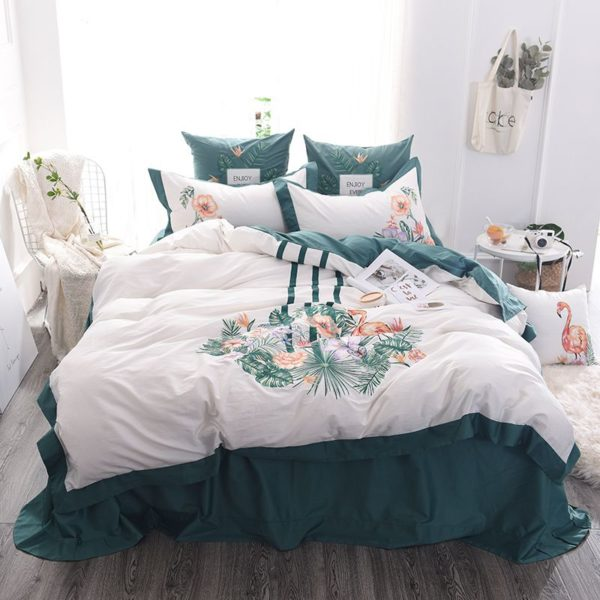 Delightful Flower Themed Embroidery Bedding Set 14 600x600 - Delightful Flower Themed Embroidery Bedding Set