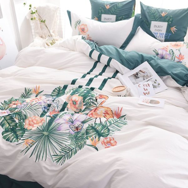 Delightful Flower Themed Embroidery Bedding Set 2 600x600 - Delightful Flower Themed Embroidery Bedding Set