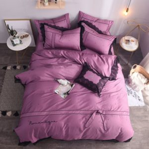 Elegant Pink Egyptian Cotton Embroidery Bedding Set (1)