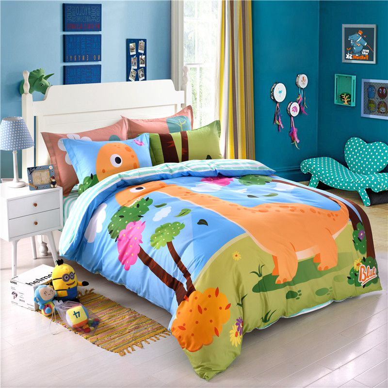 Kids Dinosaur Print Bedding Set Twin Queen Size LL ...