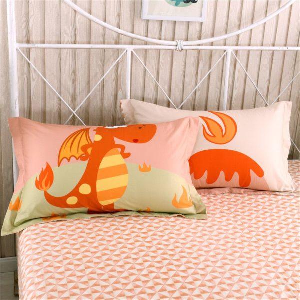Kids Dragon Print Bedding Set Twin Queen Size HL 4