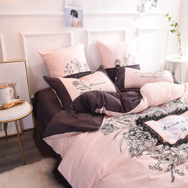 Lovely Rose Color Egyptian Cotton Embroidery Bedding Set 5 600x600 - Lovely Rose Color Egyptian Cotton Embroidery Bedding Set