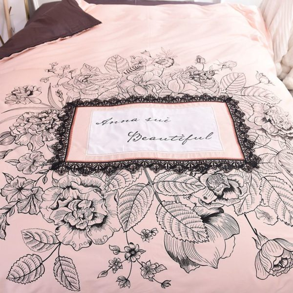 Lovely Rose Color Egyptian Cotton Embroidery Bedding Set 9 600x600 - Lovely Rose Color Egyptian Cotton Embroidery Bedding Set