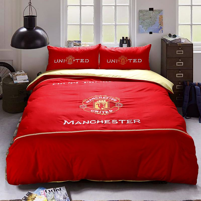 Manchester United F.C Bedding Set Twin Queen Size 1 600x600   Manchester  United F.C Bedding Set