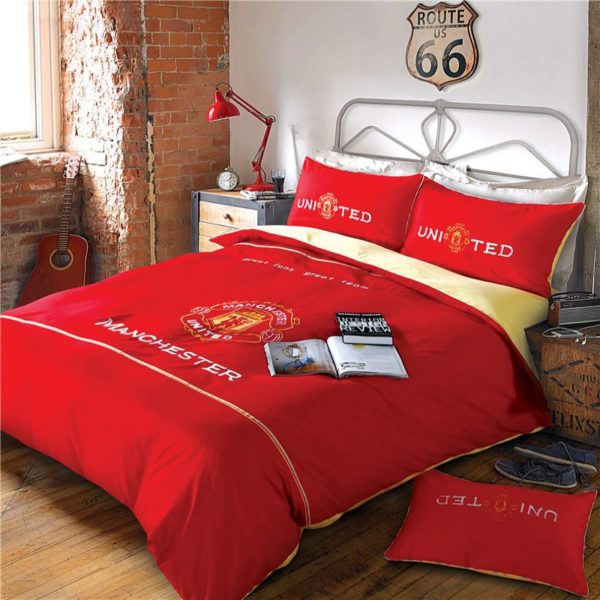 Manchester United F.C Bedding Set Twin Queen Size 10