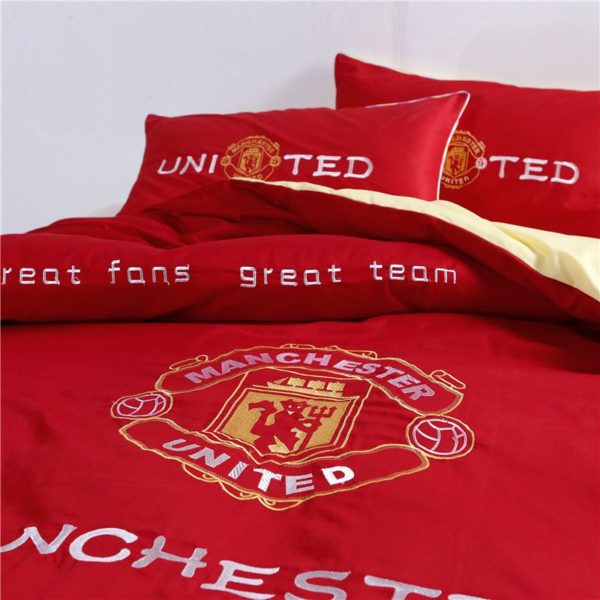 Manchester United F.C Bedding Set Twin Queen Size 3