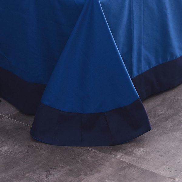 Mesmerizing Royal Blue Egyptian Cotton Embroidery Bedding Set 14