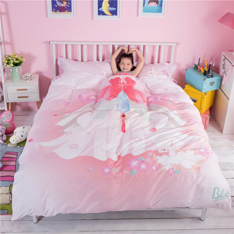 Pink Princess Themed Teen Kids Bedding Set ZGF 1 600x600   Pink Princess  Themed Teen Kids