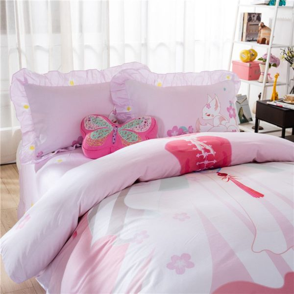Pink Princess Themed Teen Kids Bedding Set ZGF 2 600x600 - Pink Princess Themed Teen Kids Bedding Set ZGF