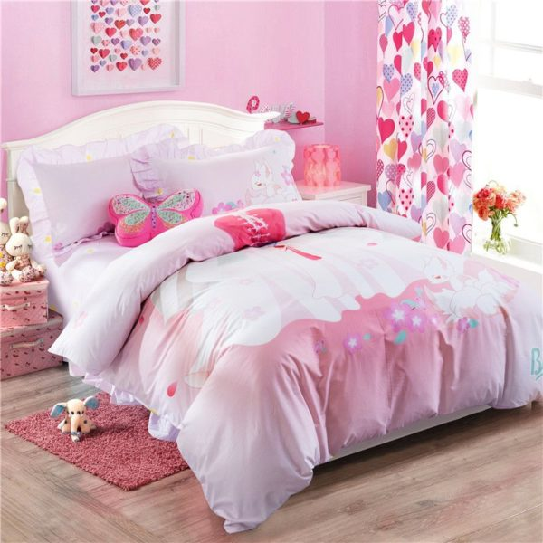 Pink Princess Themed Teen Kids Bedding Set ZGF 4 600x600 - Pink Princess Themed Teen Kids Bedding Set ZGF