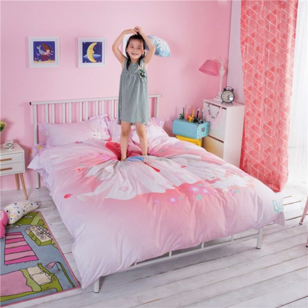 Pink Princess Themed Teen Kids Bedding Set ZGF 5 600x600 - Pink Princess Themed Teen Kids Bedding Set ZGF