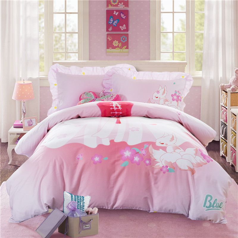 Pink princess themed teen kids bedding set zgf ebeddingsets for Princess themed bed