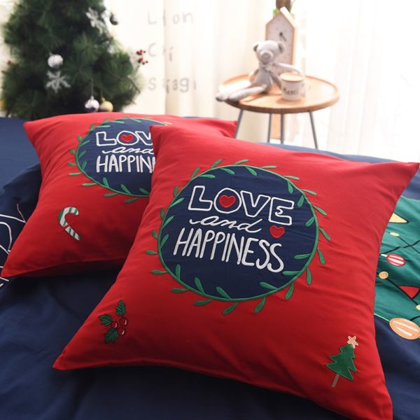 Stylish Marry Christmas Themed Embroidery Bedding Set 8 600x600 - Stylish Marry Christmas Themed Embroidery Bedding Set