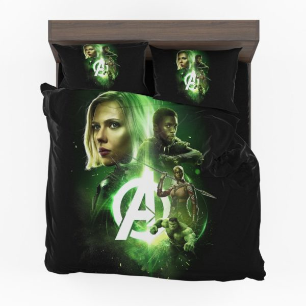 Avengers Infinity War Black Widow Black Panther Hulk Okoye Comforter Set