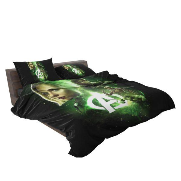 Avengers Infinity War Black Widow Black Panther Hulk Okoye Comforter Set 2