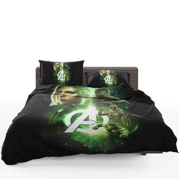 Avengers Infinity War Black Widow Black Panther Hulk Okoye Comforter Set 3
