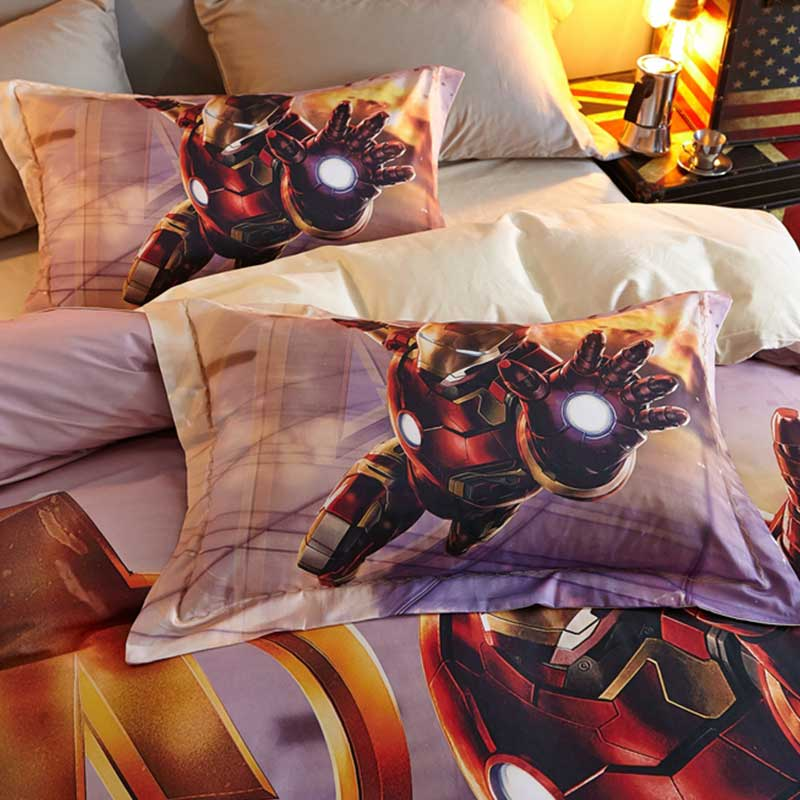 Incredible Avengers Iron Man Super Hero Bedding For Kids Bedroom Ebeddingsets Theyellowbook Wood Chair Design Ideas Theyellowbookinfo