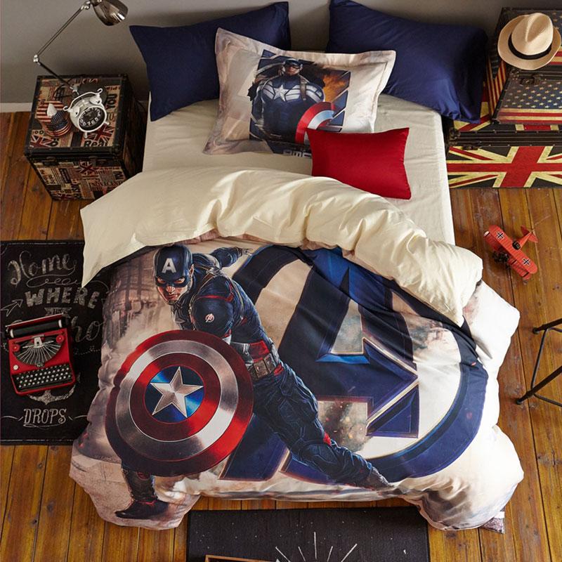 Avengers Super Hero Captain America Teen Bedding Set