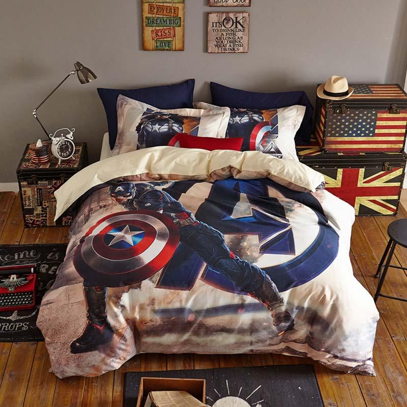 Avengers Super Hero Captain America Teen Bedding Set 8 600x600   Avengers Super  Hero Captain America