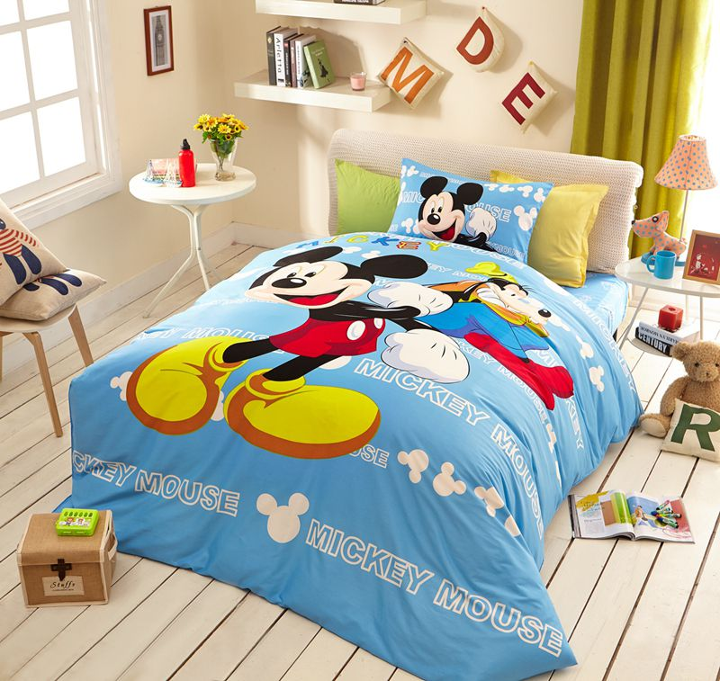 Awesome Mickey Mouse Light Blue Bedding Set Ebeddingsets
