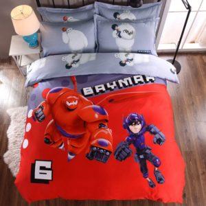 Baymax Big Hero Bedding Set Twin Queen King Size
