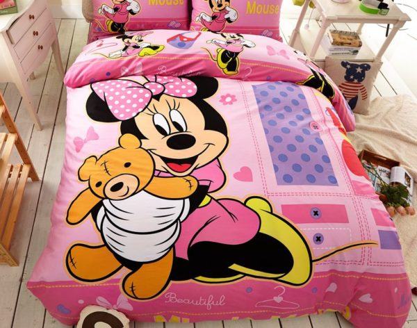 Beautiful Minnie Mouse Bedding Set Twin Queen Size 2