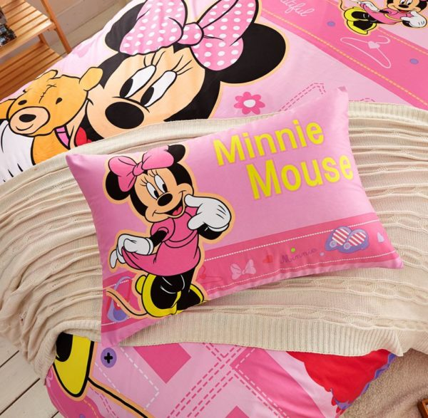 Beautiful Minnie Mouse Bedding Set Twin Queen Size 4
