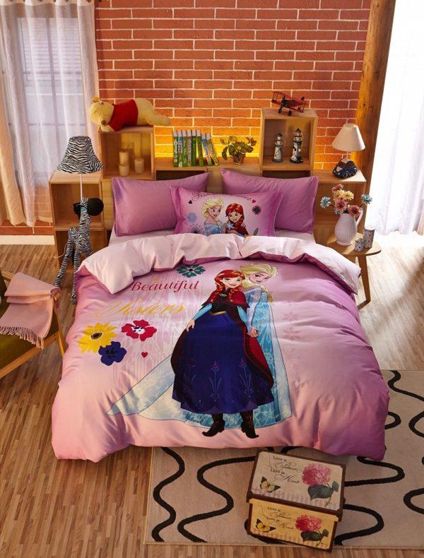Beautiful Sisters Elsa Anna Pink Bedding Set 11 600x790 - Beautiful Sisters Elsa Anna Pink Bedding Set